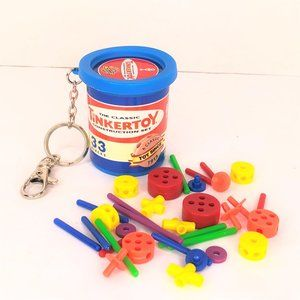 The Classic Tinkertoy Construction Set Key Chain